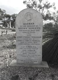 Henry Vincent headstone